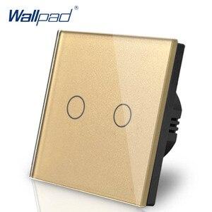 Image 3 - Interruptor de atenuación de 2 entradas, 1 vía, Wallpad, interruptor de pared de cristal blanco de lujo, Interruptor táctil Normal de 110 250V, estándar europeo