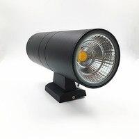 10 unids 20 W 2x10 W exterior de Doble cabeza de la lámpara de pared impermeable IP65 cuerpo Negro o gris AC 110 V-230 V