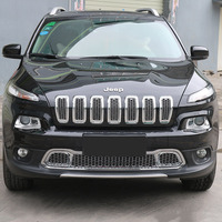 SHINEKA Car Styling ABS Front Bumper Grilles with Honeycomb Mesh for Jeep Cherokee 14 16 High Quality Car Accessories