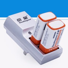 Newest Doublepow Two Slots 9V Battery Charger DP-K19 Full Automatic Stop Charging Charger For Rechargeable Batteries