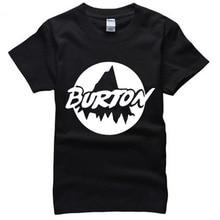 Burton Man T-Shirts Male Summer Cool Clothes Fashion Guy Fashion Clothing Casual Dress Beach Short Sleeve Tops & Tees RAW0526