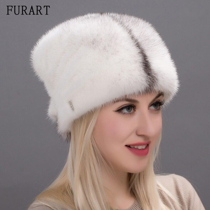 Winter warm fur hat for women real mink fur cap whole mink fur hats 2017 brand new fashion lady's headgear adjustable DHY17-27A