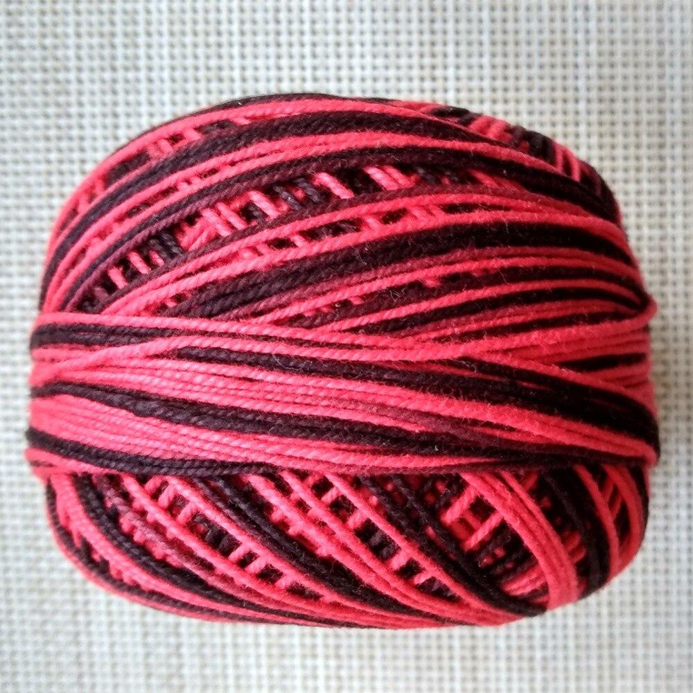 4 рулона пестрая нить для вязания крючком/пряжа и нить для вязания 50 г/рулон