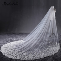 modabelle cathedral Wedding Bridal Veil With Lace Veu De Noiva Longo Trouw Accessoires Ivory Bridal Veil Fashions 2018