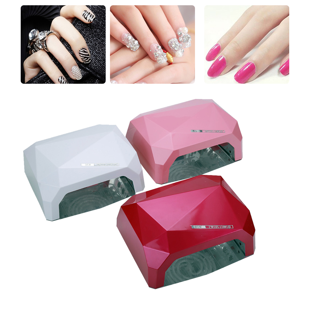 Nail Dryer Sensor 36W Diamond Shaped Nail Lamp LED & CCFL Curing For UV Gel Nails Polish Nail Art Tools auto sensor uv lamp 36w led lamp nail dryer gel nail lamp curing for light nail dryer polish nail tools diamond shaped