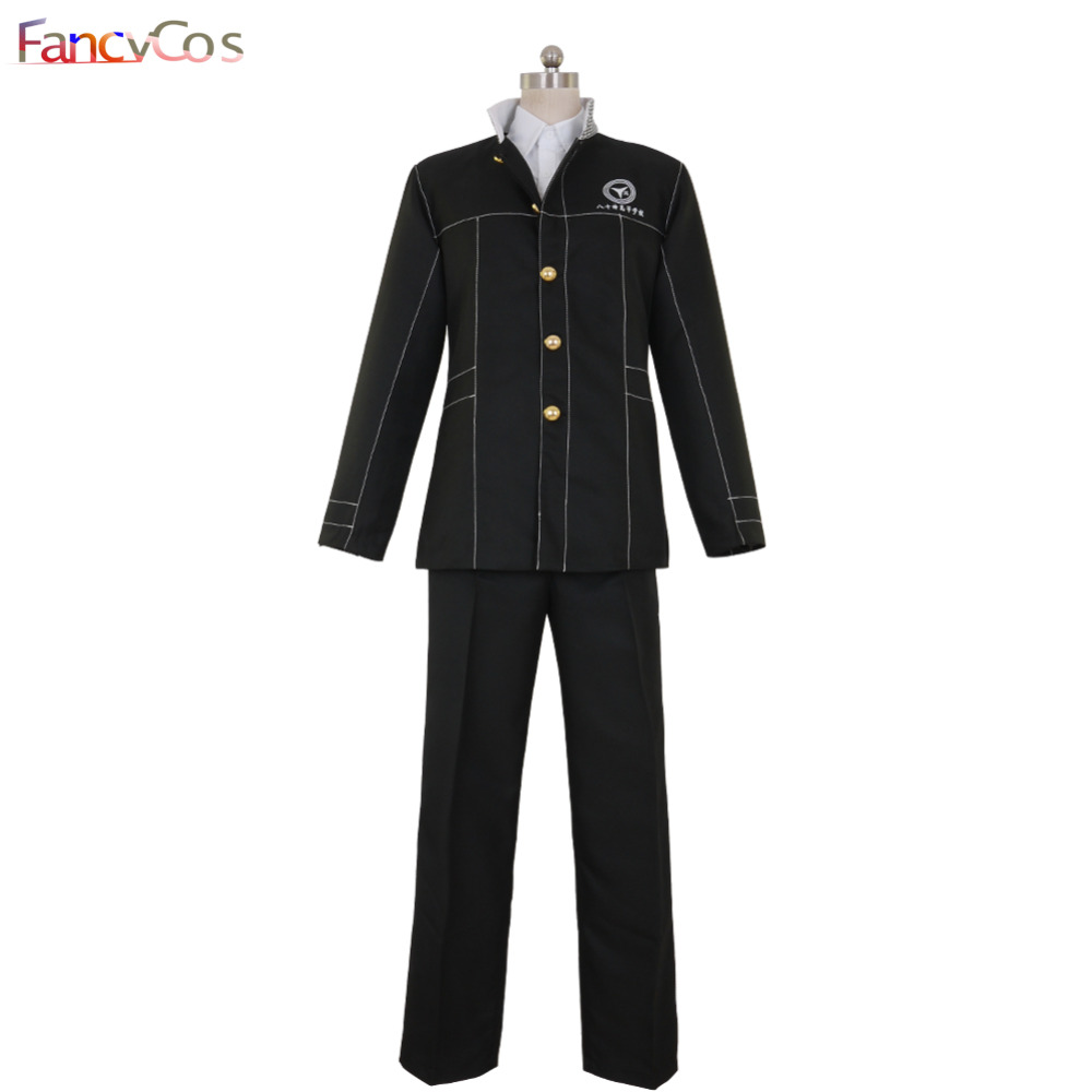 Halloween Persona 4  Yu Narukami  Uniform Cosplay Costumes Adult Costume Movie High Quality Custom Made