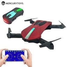 JY018 MERCURYTOYS Mini Drone WIFI Bolsillo Plegable Drones Quadcopter con Cámara de Control Remoto RC Helicóptero