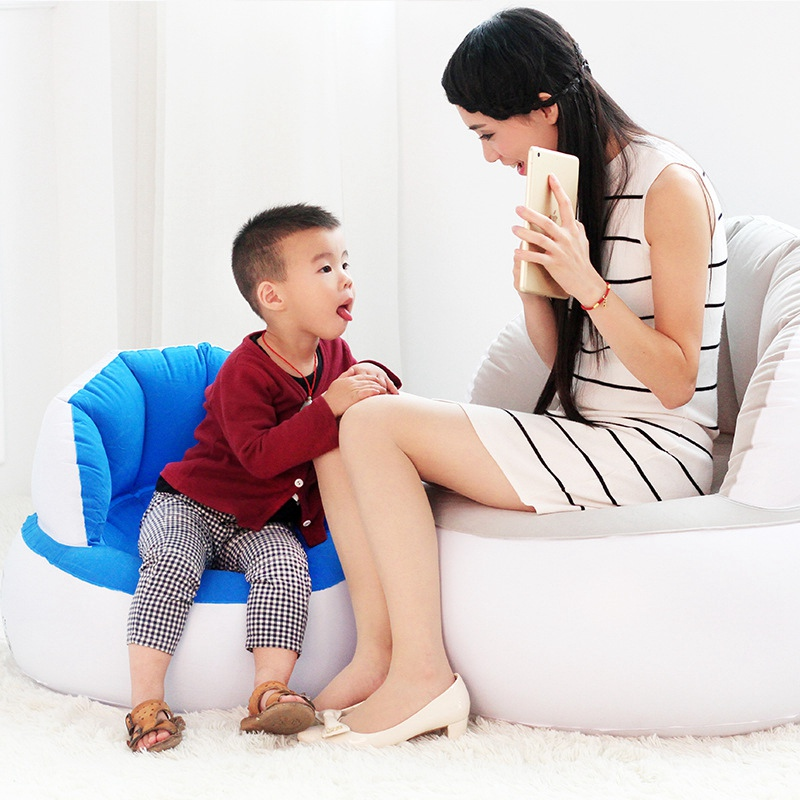 Hot Selling Home Furniture Inflatable Sofa Adult/Children Air Seat Chair Lazy Reading Relaxing Bean Bag for Living Room  inflatable sofa bean bag sofa basketball sofa living room furniture lazy sofa home furniture bedroom furniture inflatable stool