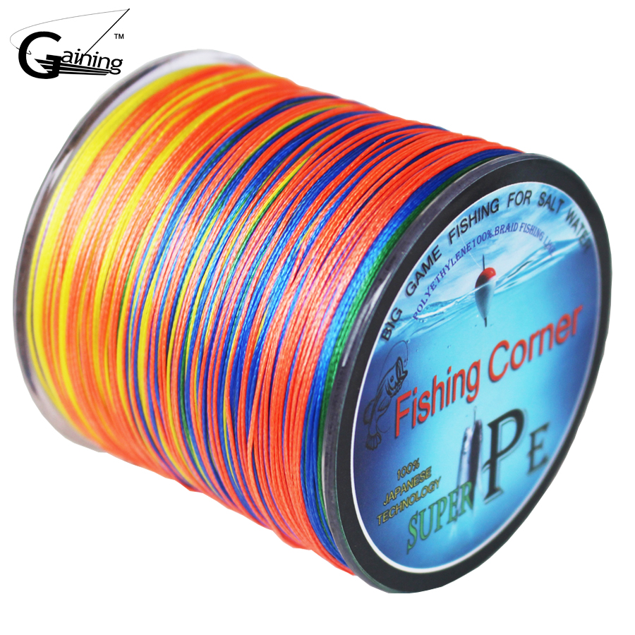 8 Strands Braided Fishing line 500m Multicolor Super Strong Japanese Multifilament PE braid line 10LB 20LB 30LB 40LB 100LB 200LB