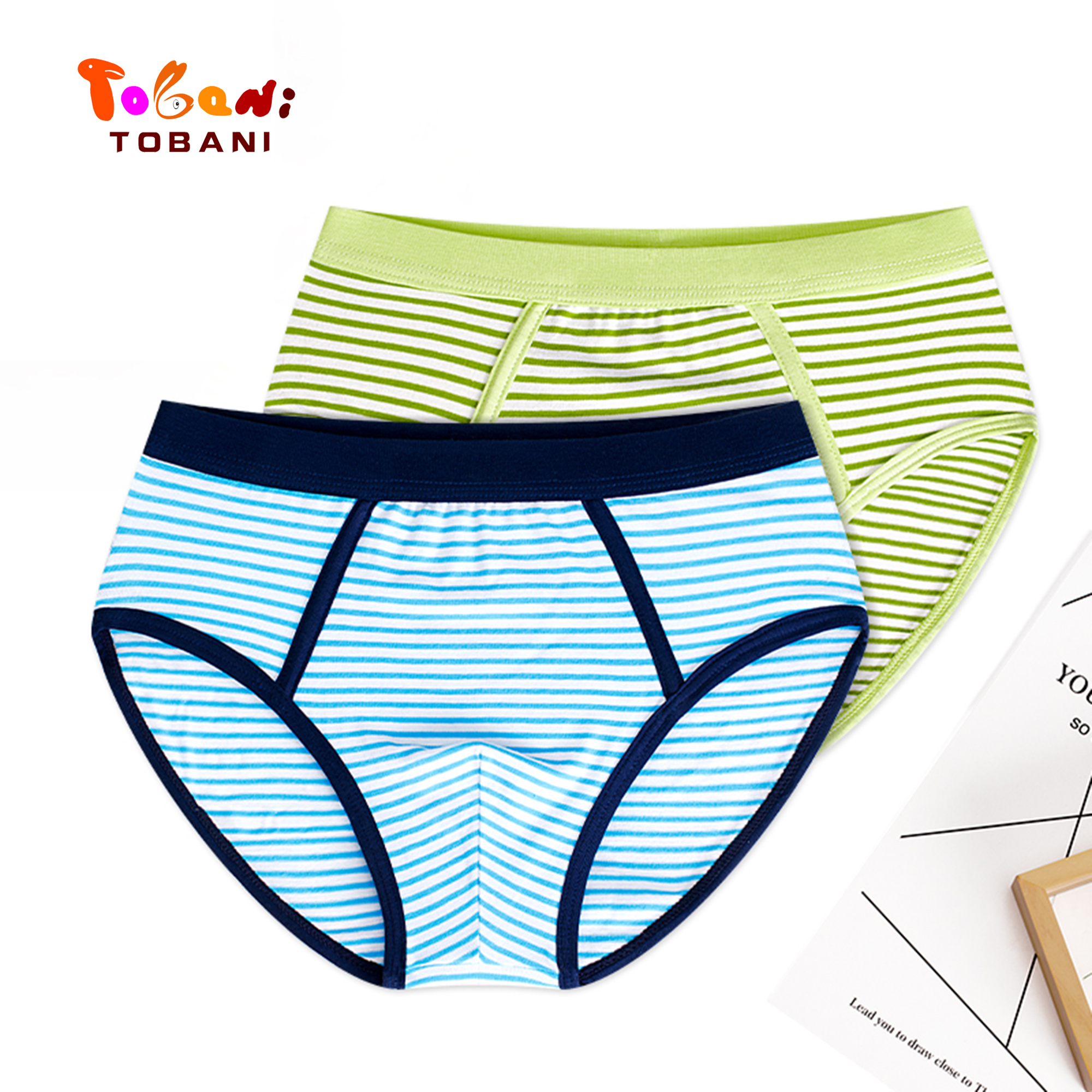 Boys Panties Triangle Cotton Children's Underpants Boys' Teenagers 'underwear, Children's Shorts Tobani 2pcs