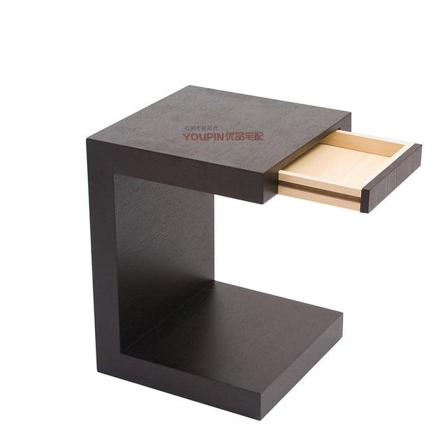 aliexpress.com : acquista legno di noce nero divano in pelle ... - Pelle Dangolo Divano Minimalista