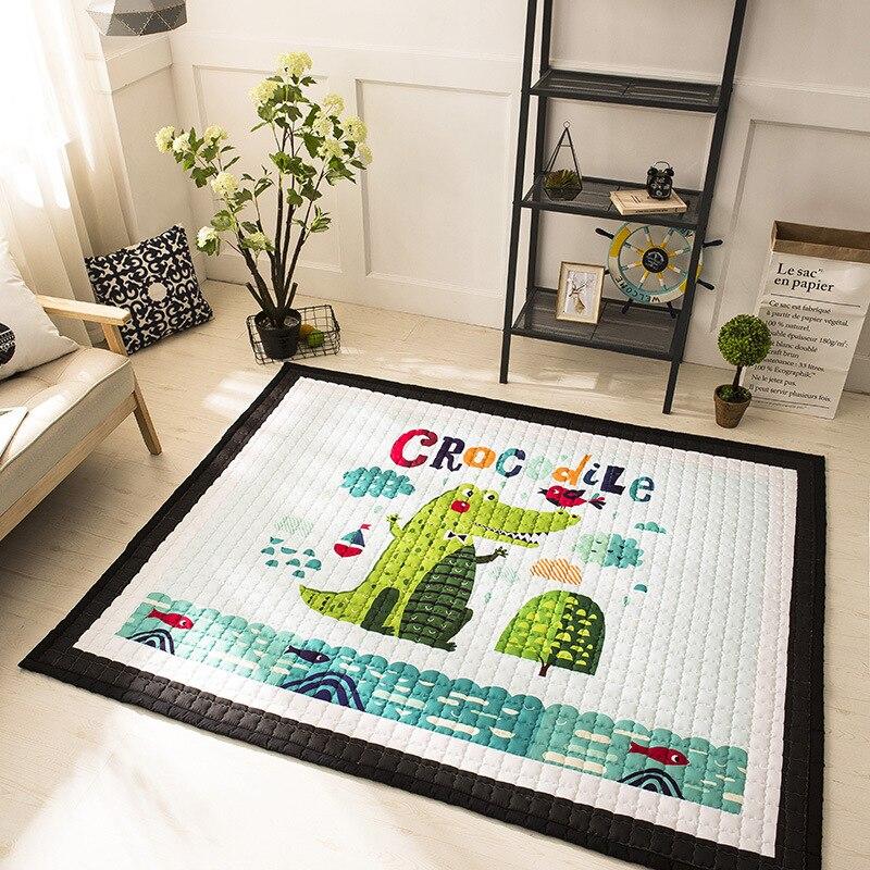 Tapis de maison 150*200 cm grande taille tapis de jeu anti-saut tapis de chambre d'enfant 100% coton tapis de salon tapis de sol de bande dessinée 15mm décor à la maison