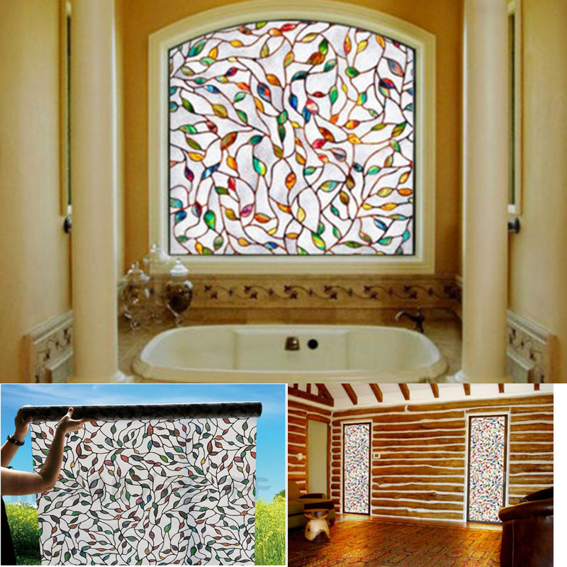 Opaque Privacy Static Cling Gl Window Film Home Decor For Bathroom And Office Decorative