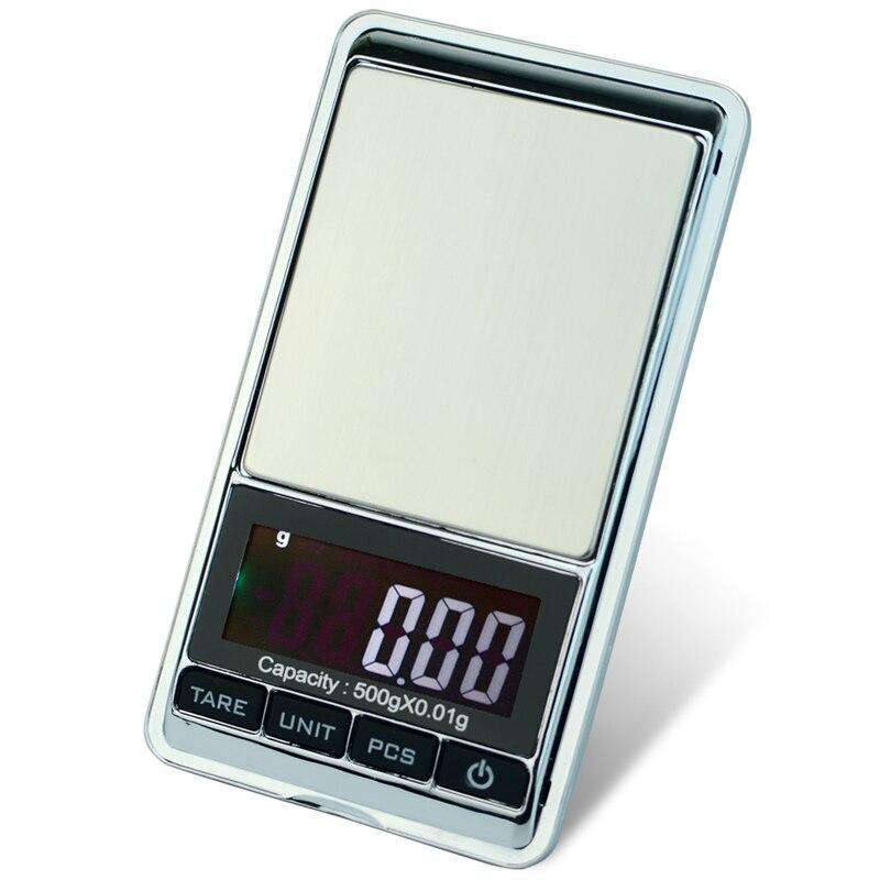 Di alta precisione 500g x 0.01g Digital Scala Dei Monili di Pesatura Strumento di Diamante Bijoux Oro del Peso di Equilibrio Gram LCD Elettronico
