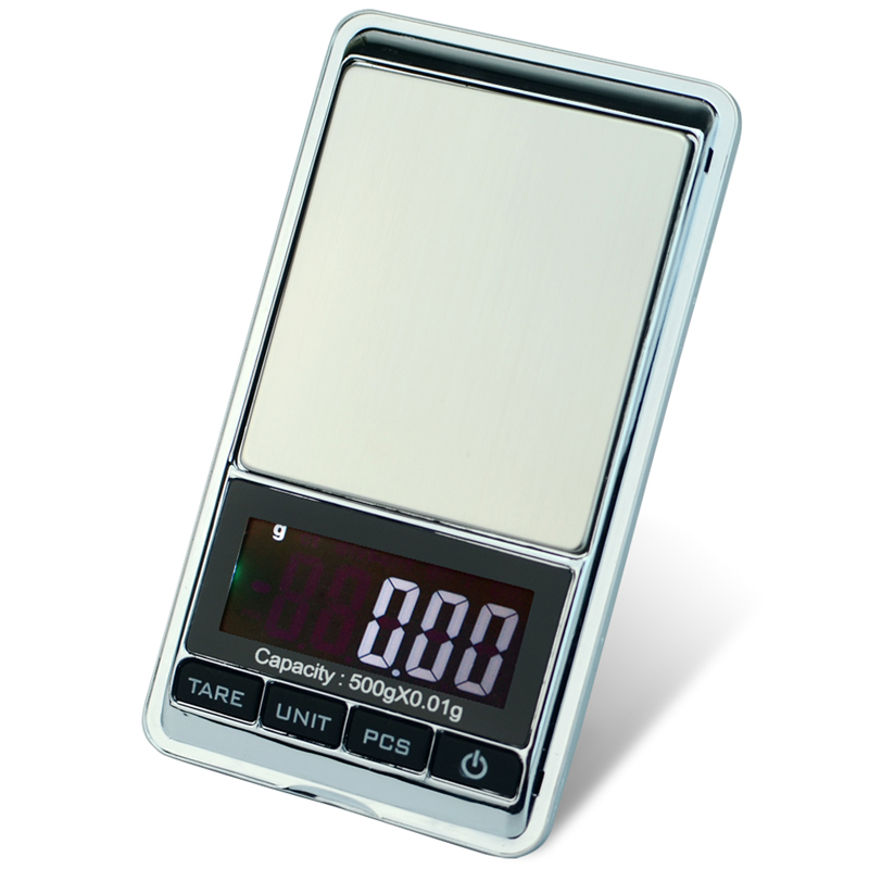 High precision 500g x 0.01g Digital Jewelry Scale Weighing Tool Diamond Gold Bijoux Balance Weight Gram LCD Electronic