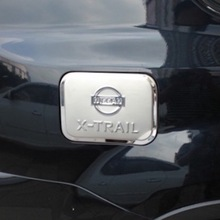 For Nissan X-trail T31 2008 to 2013 Gas Tank Cover Fuel Oil Cap Trim Decoration xtrail x trail Stainless Steel Car Accessory