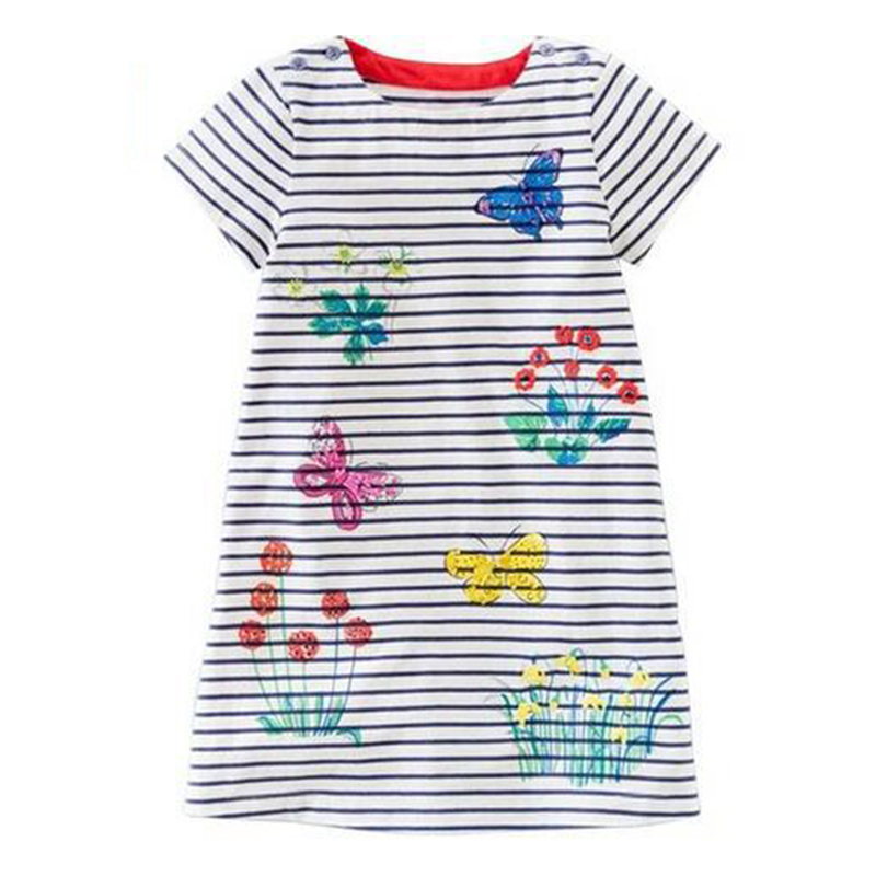 Baby-Girl-Dress-with-Animals-Applique-2017-Summer-Princess-Dress-Kids-Clothes-100-Cotton-Children-Christmas-Dresses-for-Girls-3