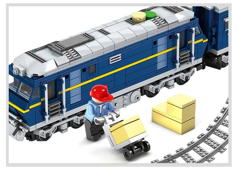 Kazi Città Treno Ferroviario Treno Cargo Con Le Tracce a Motore Diesel Modello Brinquedos Technic Blocchi di Costruzione Giocattoli Per Bambini-in Blocchi da Giocattoli e hobby su  Gruppo 3
