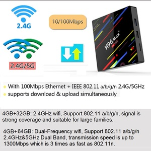 Image 3 - 4GB RAM 64GB ROM 4K مربع التلفزيون الذكية أندرويد 9.0 H96 ماكس زائد RK3328 مجموعة صندوق فوقي 2.4/5G واي فاي H96Max + يوتيوب مشغل الوسائط 2G16G