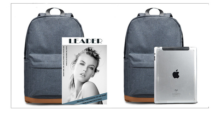 two backpacks with a magazine and a laptop