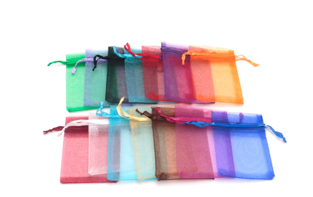 50pcs 7*9 Organza Bag Christmas Wedding Gift Bag 15 Color Jewelry Packing Display Bag&pouch Favor Bags