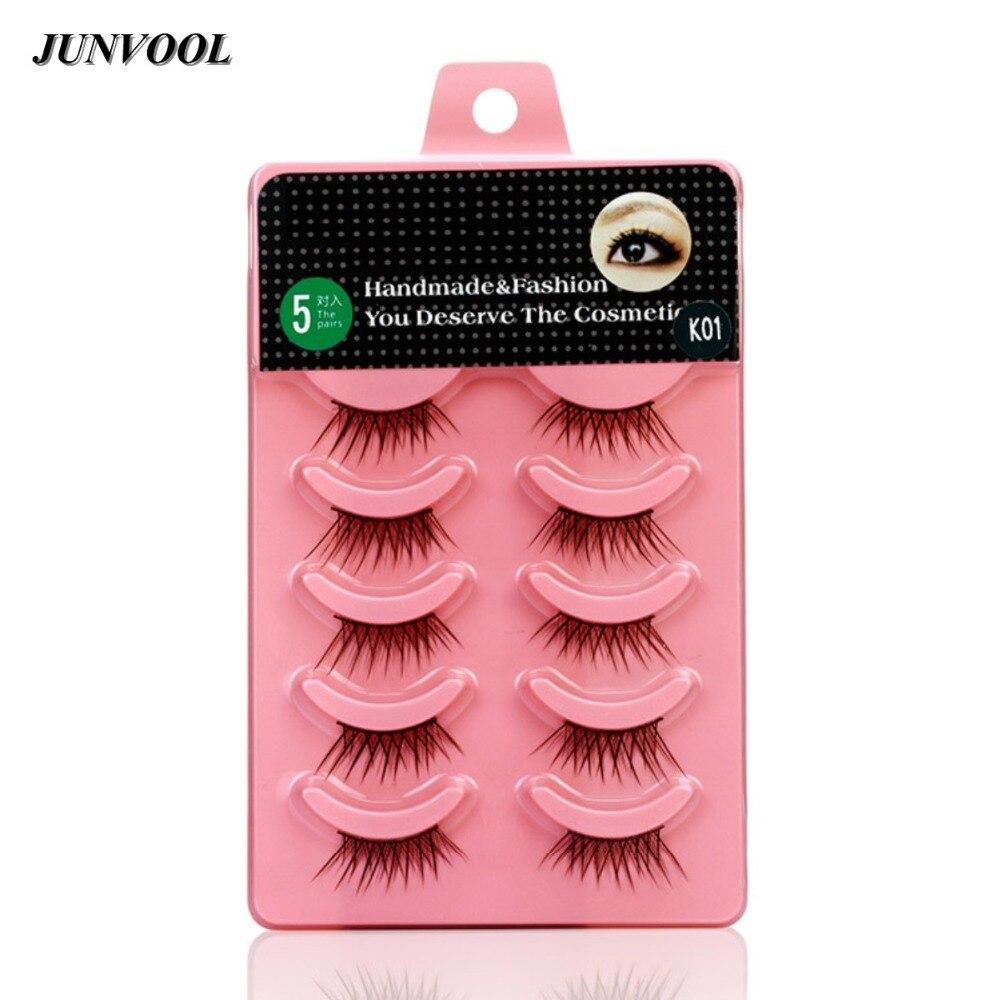 Fake False Eyelashes Kit 50 Pairs Of Women Lady Half Eyelash Partial Long Thick Handmade False Eye Lashes Kit Makeup Beauty Tool