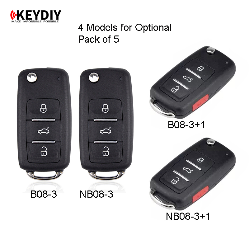 KEYDIY 5 Pieces Universal Remote B Series NB Series for KD900 KD900 URG200 KEYDIY Remotes for