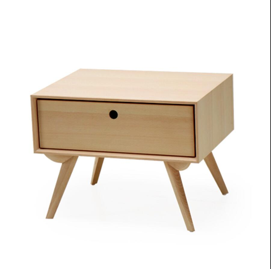 Designers Nordic bedside cabinet drawer storage cabinets wood color single small cupboard lockers sub bedside cabinet nightstand