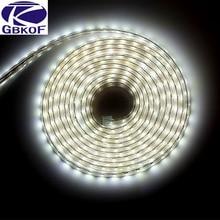SMD 5050 AC220V Светодиодные ленты гибкий светильник 60 светодиодный s/m Водонепроницаемый светодиодный лента светодиодный светильник с Мощность штекер Адаптер длиной 1 м/2 м/3 м/5 м/6 м/8 м/9 м/ 10 м/15 м/20 м