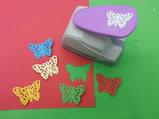 Frees Shipping New Design Large Size Butterfly Punch Craft