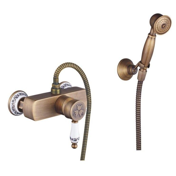 New arrival Shower Faucets with ceramic Mixer Tap Antique Brass Bath Shower Faucet Set bathtub faucet 916