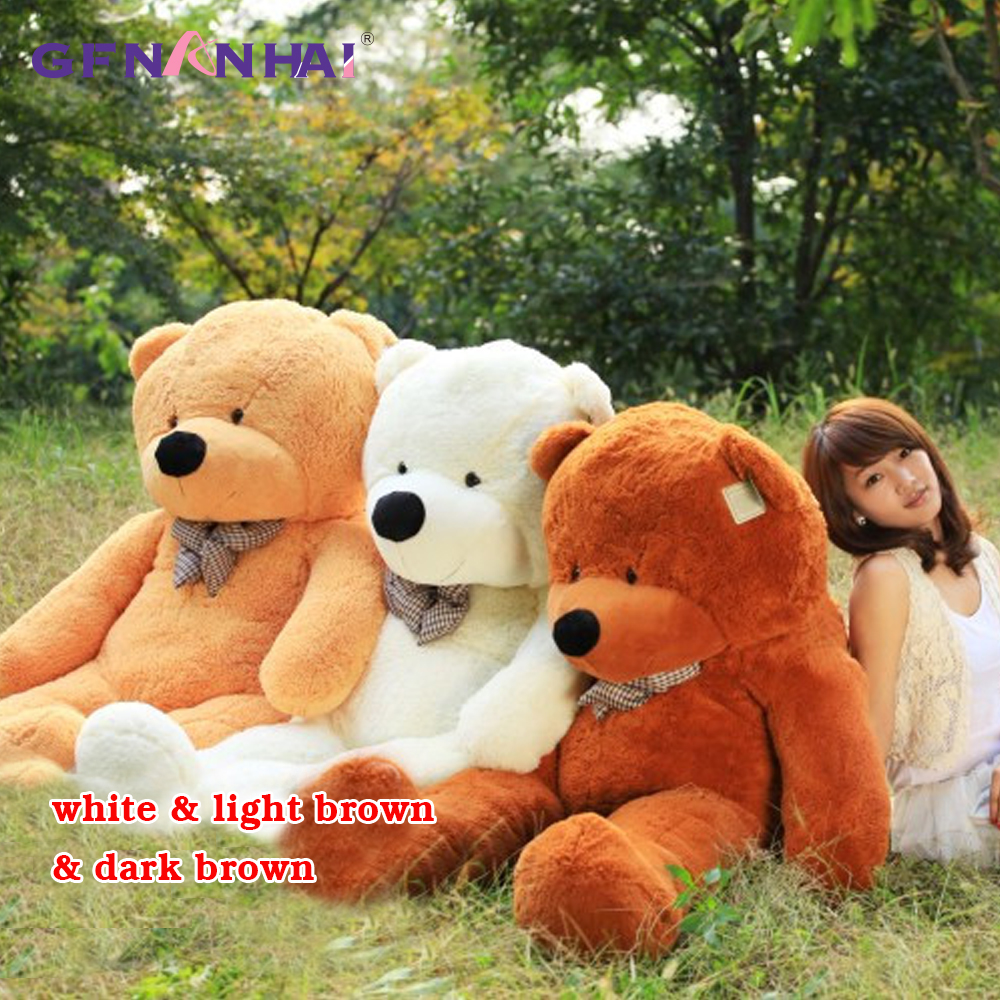 1pc 200cm Giant Size Teddy Bear Skin Plush toy Semi finished product Bear with Zipper Dolls unstuffed Bear coat toy for Children big sale 60cm to 200cm cheap giant unstuffed empty teddy bear bear skin toy plush teddy bear bearskin plush toys 7 colors