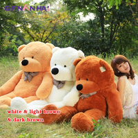 1pc 200cm Giant Size Teddy Bear Skin Plush toy Semi finished product Bear with Zipper Dolls unstuffed Bear coat toy for Children