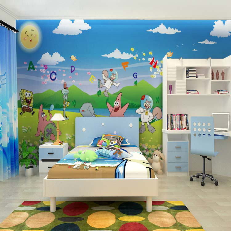 Wall Murals For Kids popular spongebob wall mural-buy cheap spongebob wall mural lots