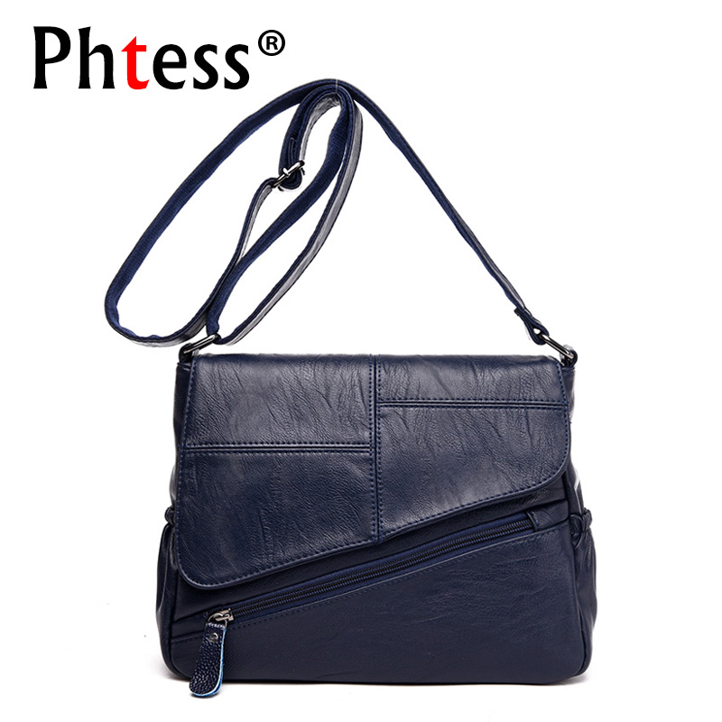 2018 Women Leather Handbags Luxury Brand Bag Shoulder Female Ladies Hand Bags Crossbody Women Messenger Bags Handbags Sac a Main women genuine leather handbags ladies personality new head layer cowhide shoulder messenger bags hand rub color female handbags
