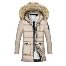 Зима новый 2016 мужская хлопок пальто толстые повседневная простой куртка тенденция самосовершенствование все матч Корейской версии длинное пальто