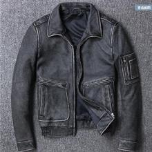 Free shipping.Brand fashion new clothing,mens cow leather Ja