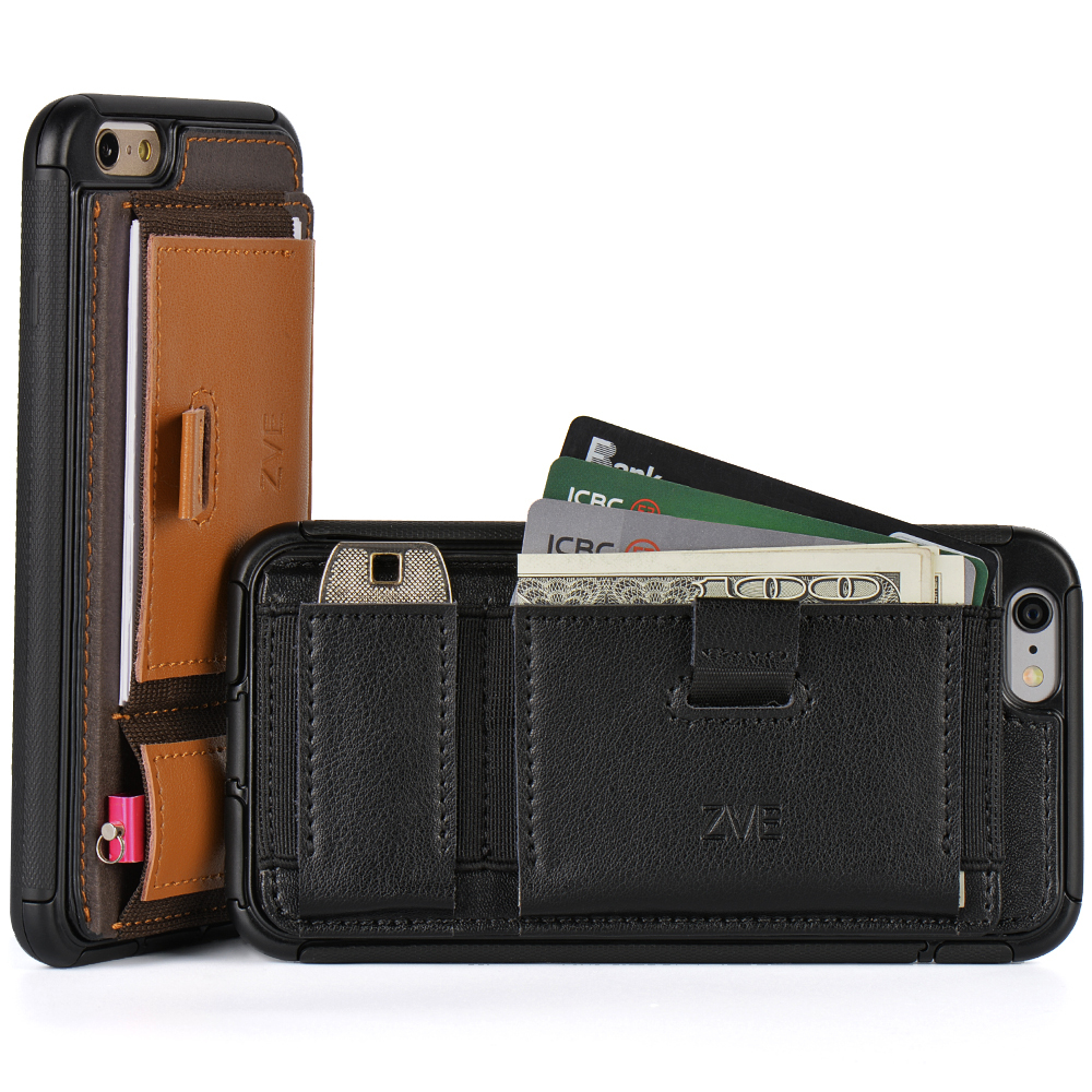 info for cb8d1 d0d32 US $16.99 |ZVE Multifunction wallet Leather Case For Apple Iphone 6 plus  5.5 inch with Holder &Card Slot ,leather Back Cover for iphone6 on ...