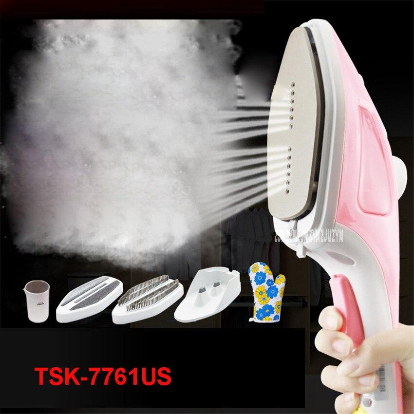 TSK-7761US 220V Home Handheld Hanging Machine Iron Mini Portable Steam Brush Winner Artifact Iron Garment Steamers Travel 900W handheld garment steamers portable