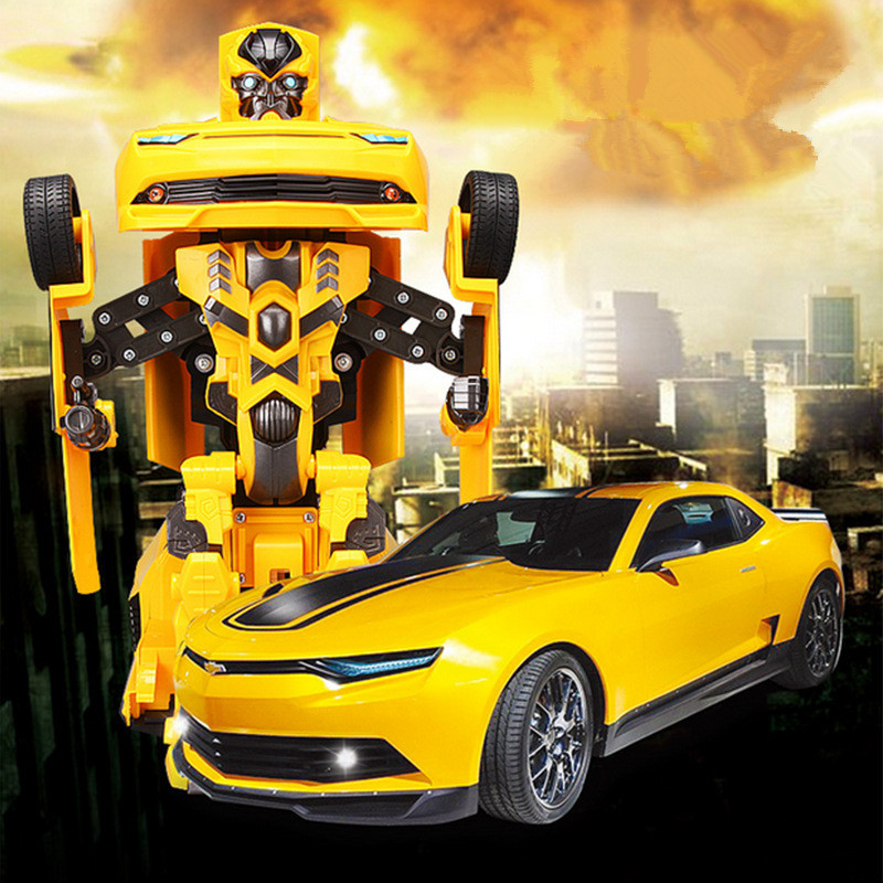 Classic movie theme toy TT661 recharge Ares one key deformation remote control  RC robot racing car model toy with voice light