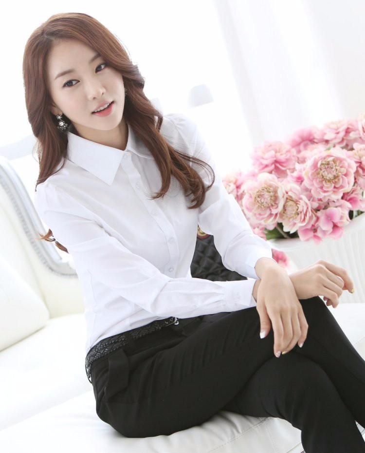 HTB1Ub7zLXXXXXbgXFXXq6xXFXXXv - Casual Blouse Long Sleeve Femininas Ladies Work Wear Tops Shirt