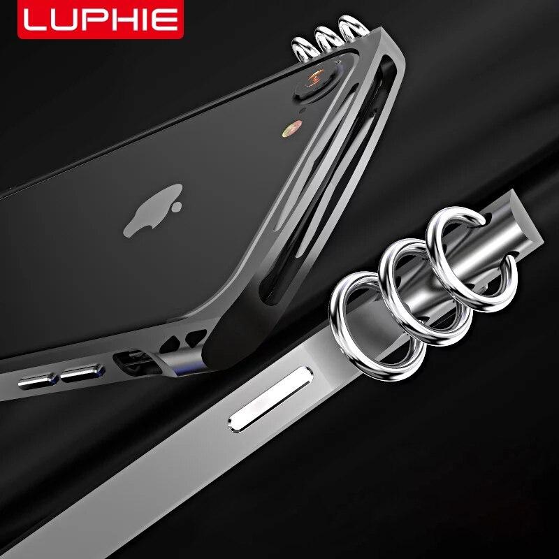 bilder für Mode-Design Luphie Isomerism Seite Fall für Apple iPhone7 Stoßstange Fall Aluminium Rahmen + Fiber zurück Abdeckung für iPhone 7