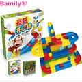 [Bainily] 1 Unidades diy pista de raza de la corrida colorful kids juegos de bolas rodantes de construcción bloques de construcción de pista compatible legoe duplo