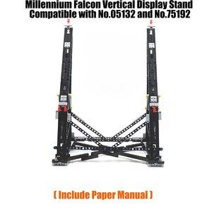 Image 1 - Preto moc millennium brinquedos falcon vertical expositor compatível com no.05132 e no.75192 modelo de coletor final
