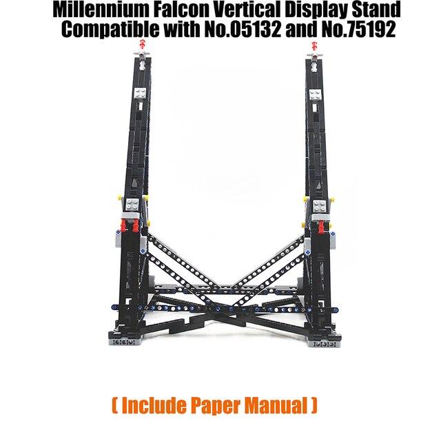 Preto moc millennium brinquedos falcon vertical expositor compatível com no.05132 e no.75192 modelo de coletor final
