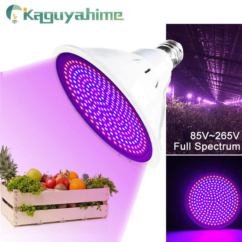 Kaguyahime LED Growth Light E27 85-265V/220V Plant Light Full Spectrum For Indoor Seedlings Flower Fitolamp Hydroponic Grow Bulb