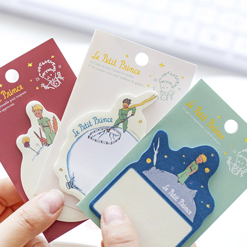 Cute Kawaii Cartoon Little Prince Memo Pad Post It Note Sticky Paper Korean Stationery Planner Stickers Notepads School Office