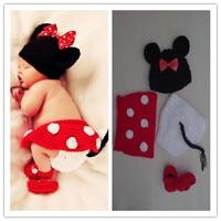 Fotografia Traje Para 0 ~ 12 Meses Bebês HatsSoft Handmade Algodão Crochet Bebê Recém-nascido Fotografia Adereços Malha