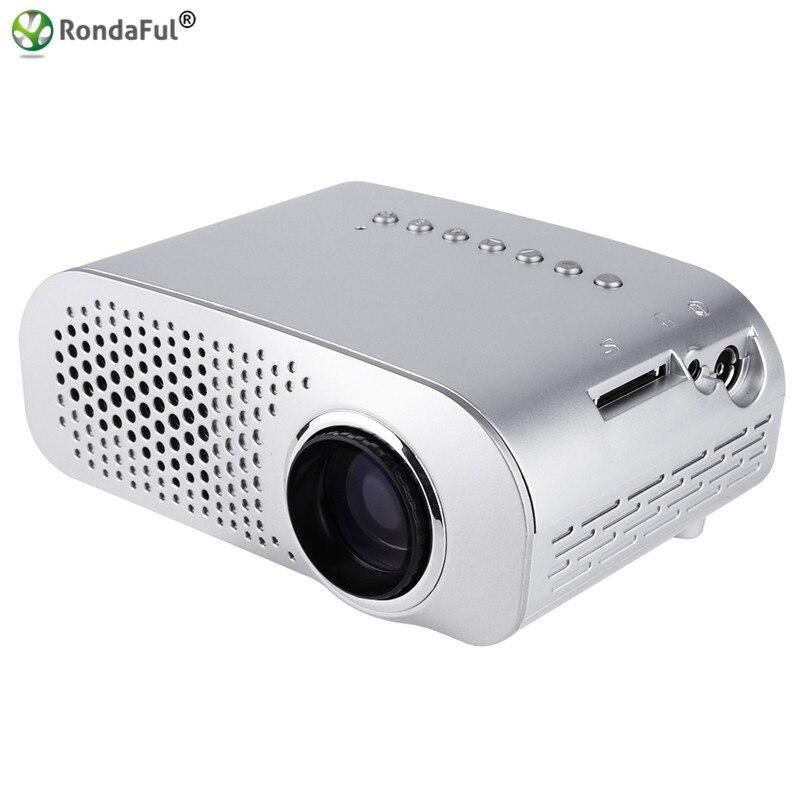 GP802A Portable Mini LED LCD Projector 1080P HD Home Cinema Theater Game AV USB VGA SD Pico Video Projectors