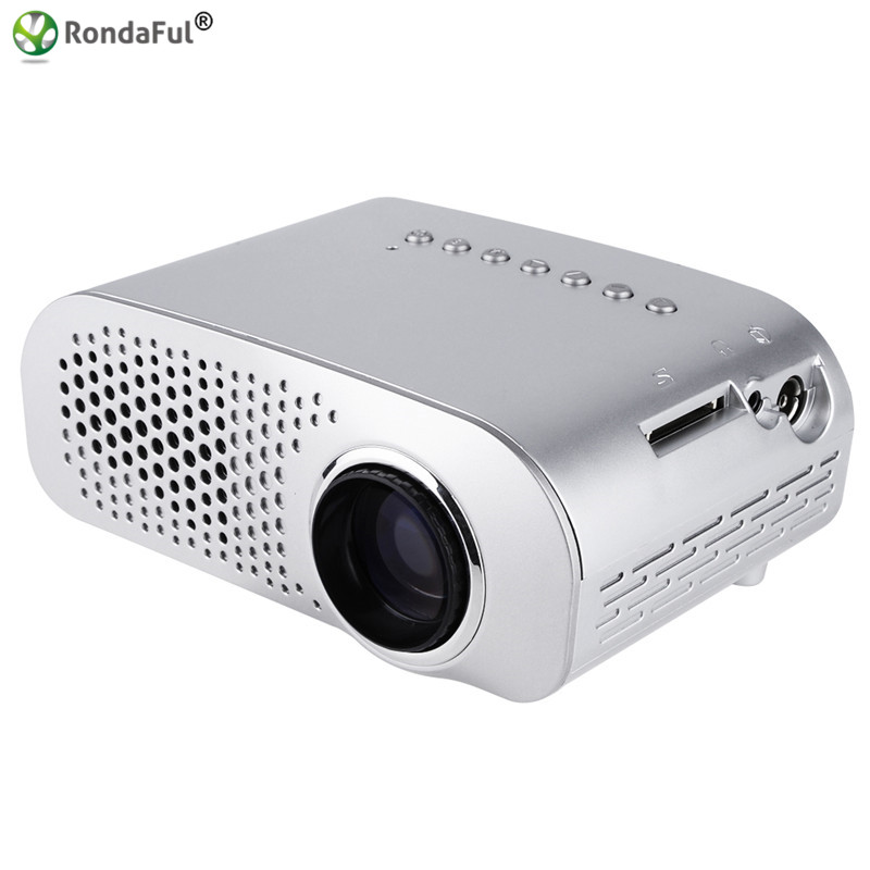 Gp802a portable mini led lcd projector 1080p hd home for Portable video projector